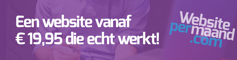 Een Website Vanaf €19,95 Per Maand Die Echt Werkt!